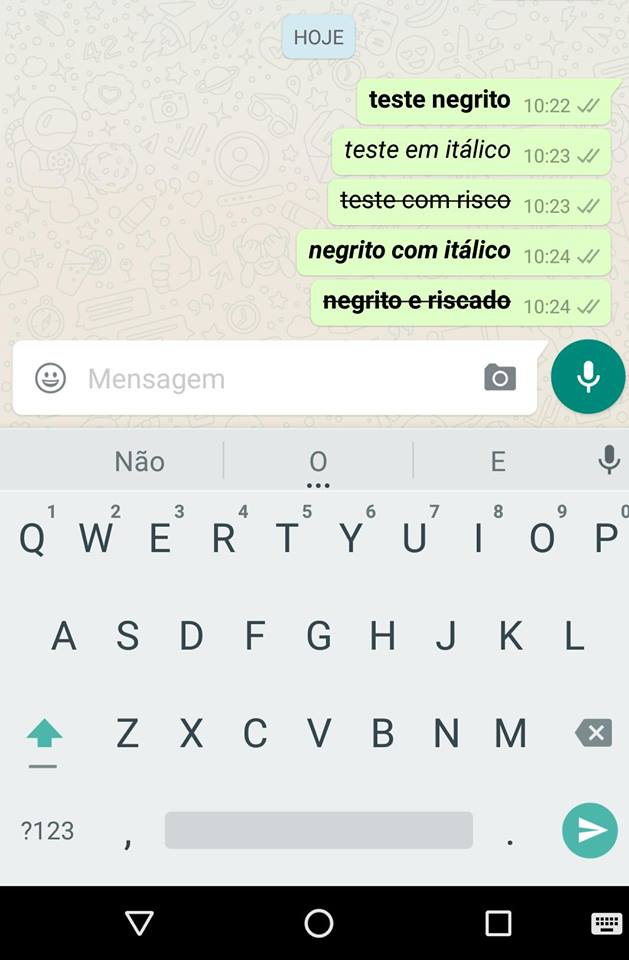 formatação no WhatsApp