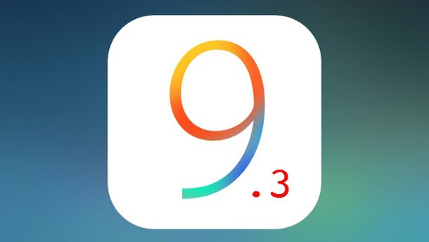 Relançamento do iOS 9.3