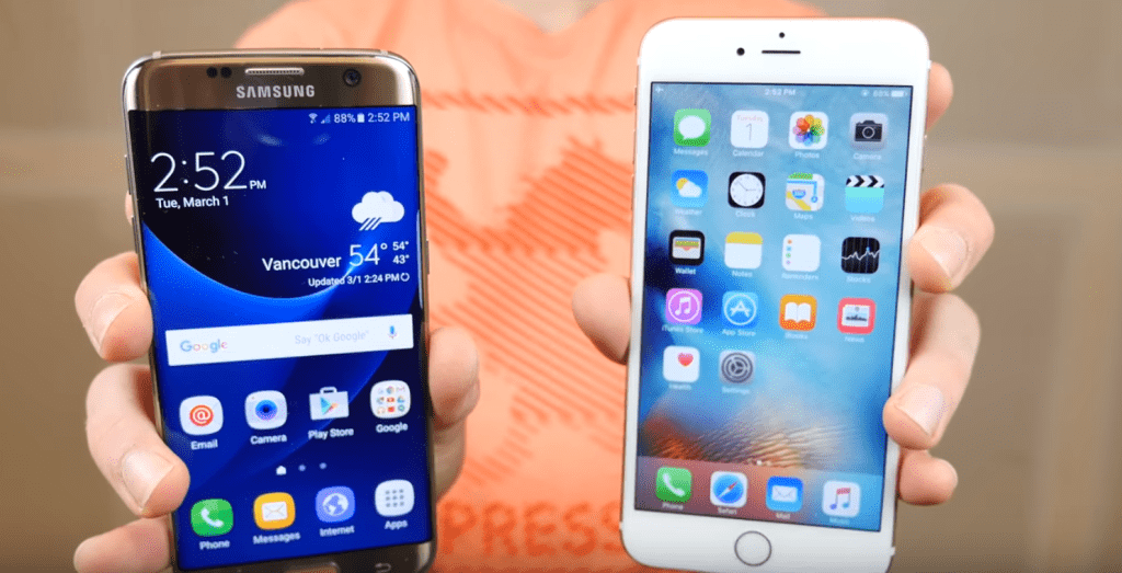iphone 6S e Galaxy S7