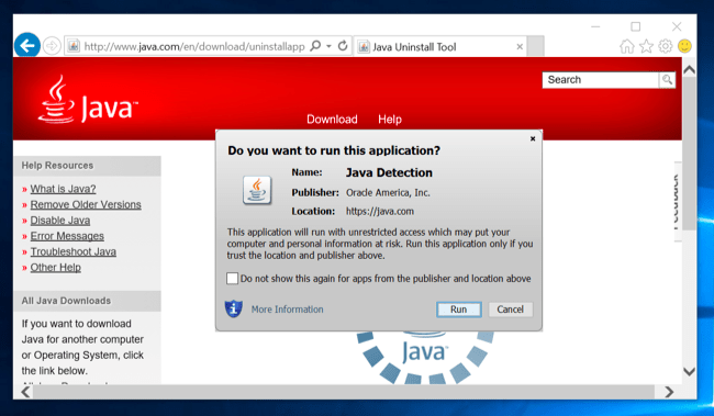java windows