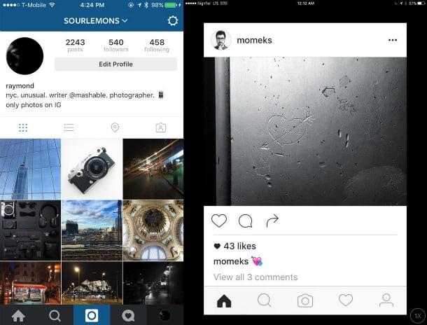 Atualização do Instagram