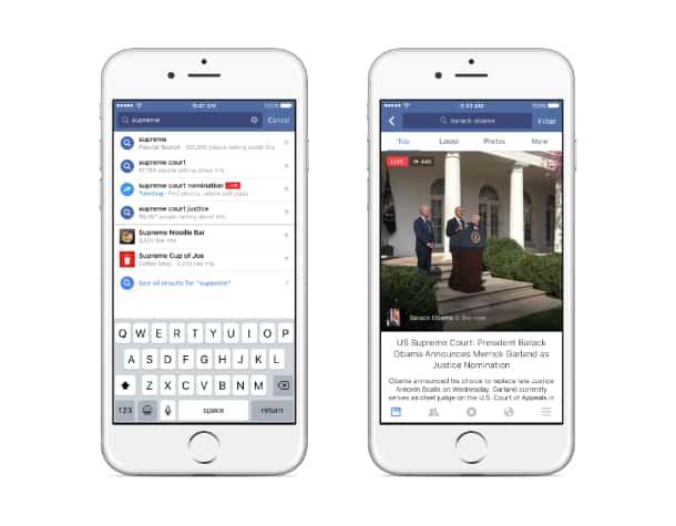 Videos no Facebook