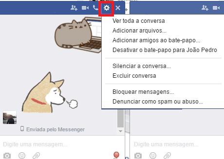 bloquear um contato no facebook