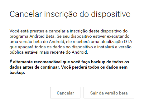 downgrade do Android N