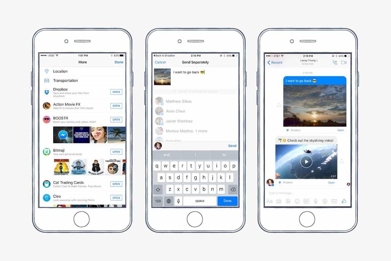 atualização do facebook messenger