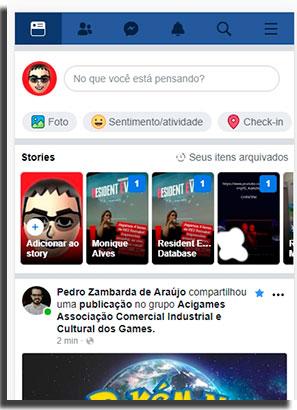mensagens no facebook mobile