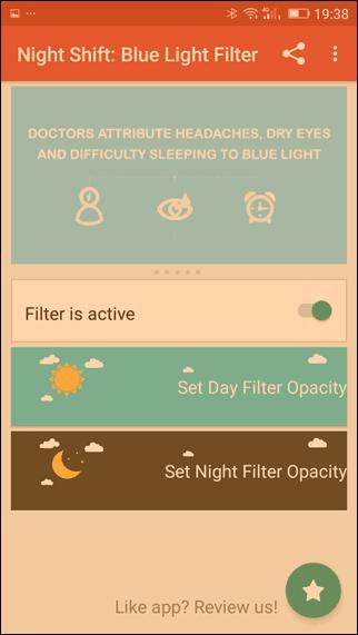 modo noturno no android