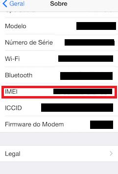 descobrir o IMEI iphone