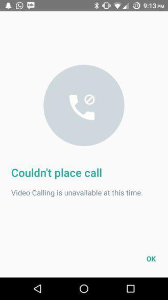 chamadas de video whatsapp