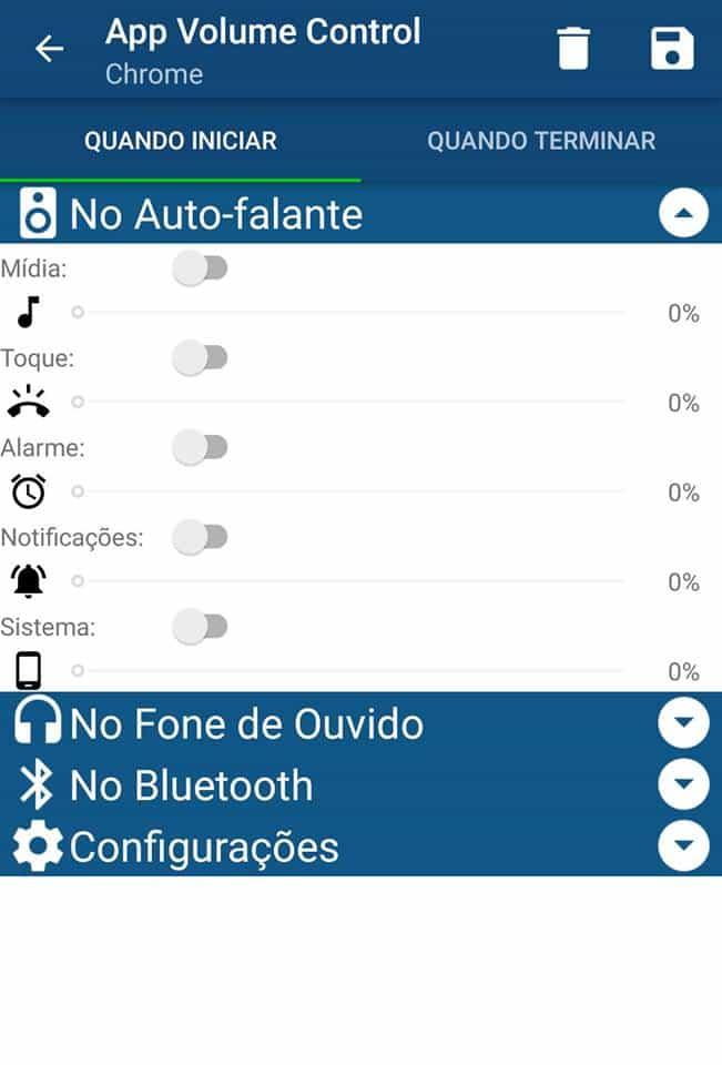 volume de apps