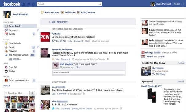 Atualização do Facebook