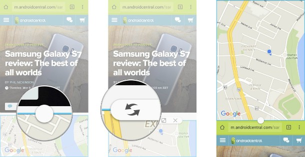 Multi janela do Galaxy S7