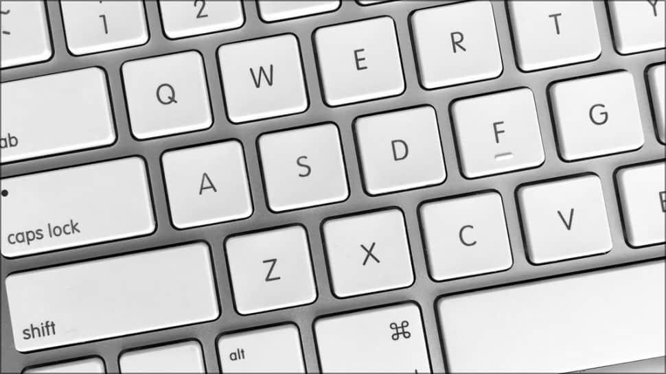 left part of a notebook keyboard