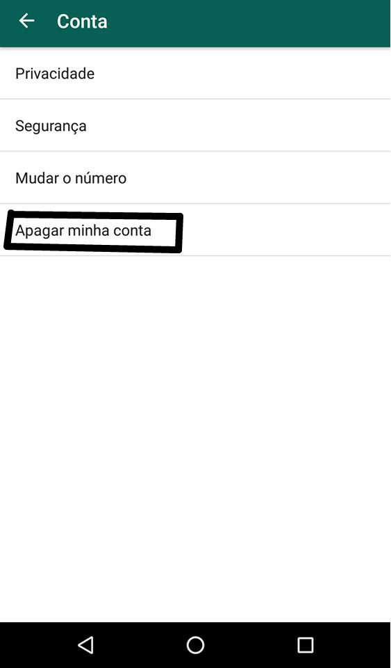 conta do whatsapp