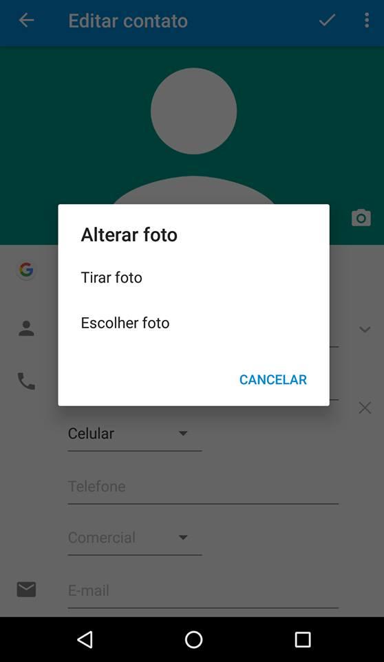 contatos no android