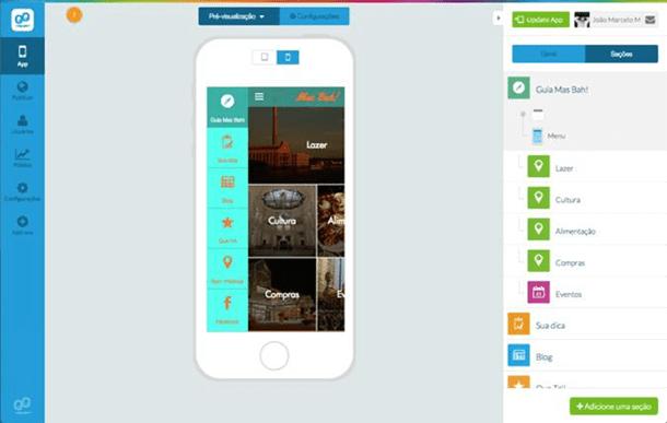 Aplicativo para celular para turismo