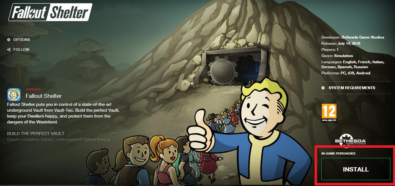 Fallout Shelter PC