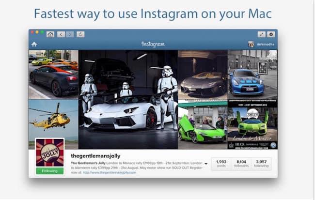 Instagram no Mac