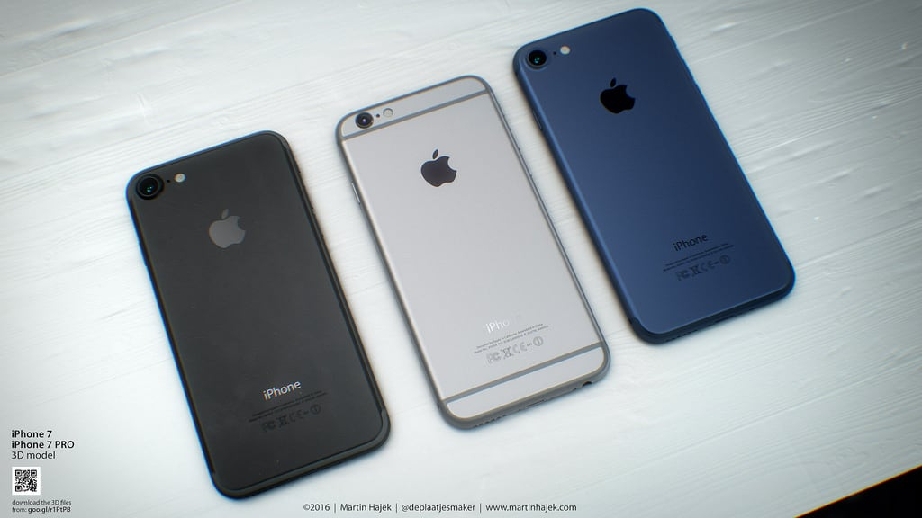 Modelos do iPhone 7