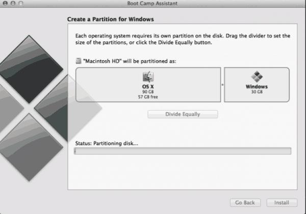 instalando windows via bootcamp no mac