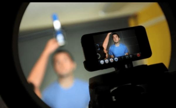 gravando com o iphone