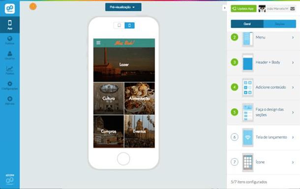 Toques Finais de criação da app