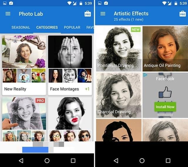 tranforma fotos em desenho android