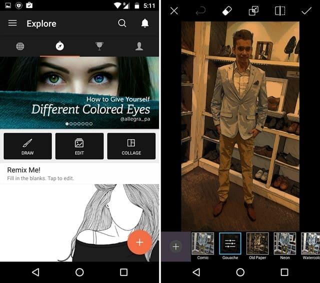 apps para transformar fotos em desenho