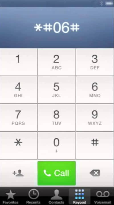 salvar imei no iphone