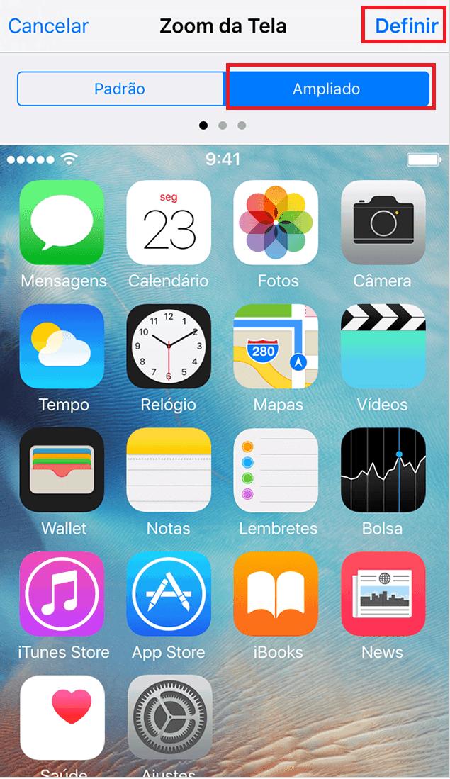 iphone zoom ampliado