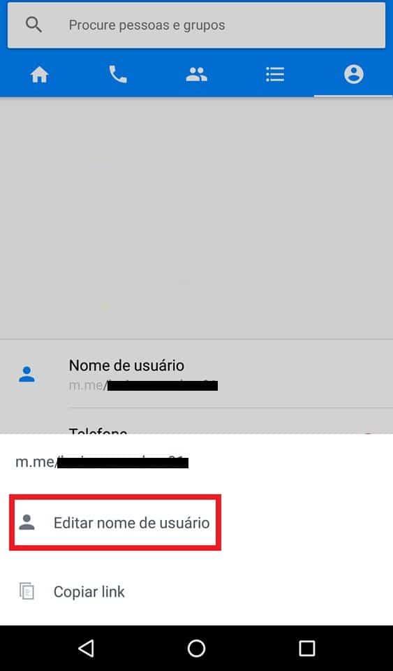 nome de usuário