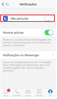 notificações iPhone