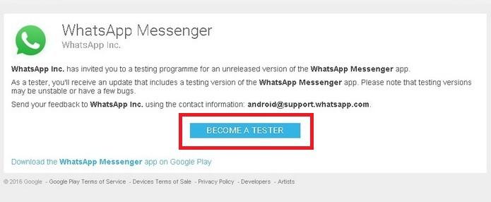baixar whatsapp beta tester