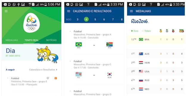 Apps para acompanhar as Olimpiadas