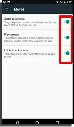 android nougat é lançado gestos