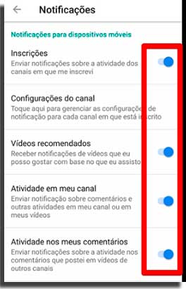 notificar novos dispositivos youtube