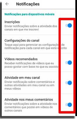 notificar novos dispositivos youtube