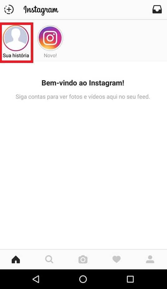 nova história instagram