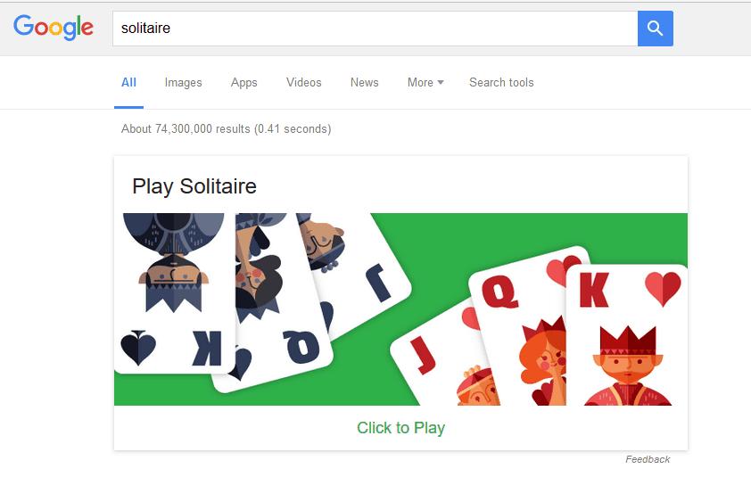 paciência no google