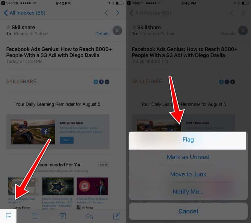 Mails do iOS 10
