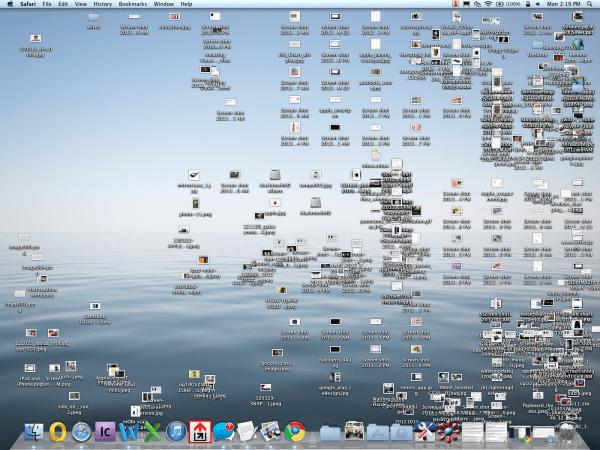 desktop bagunçado