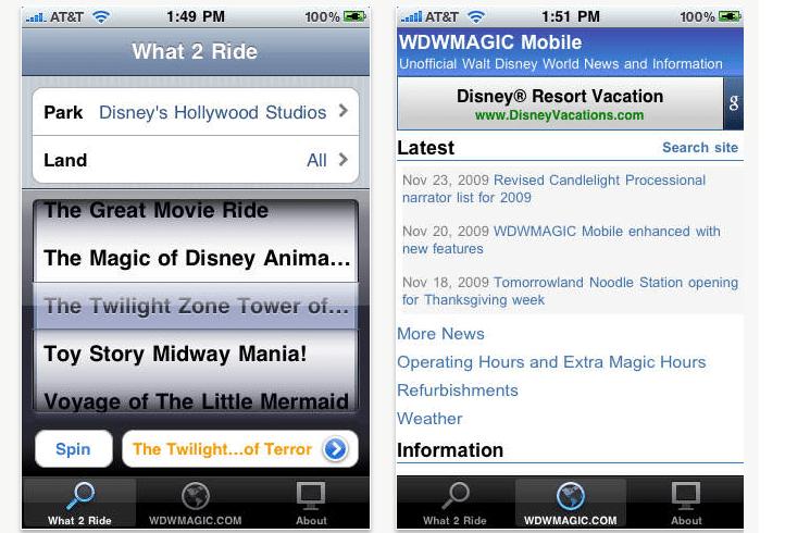 apps para visitar a disney wdw