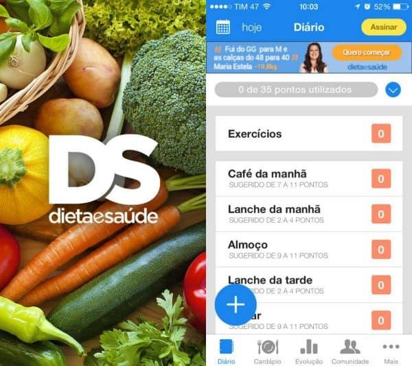 dieta e saúde app