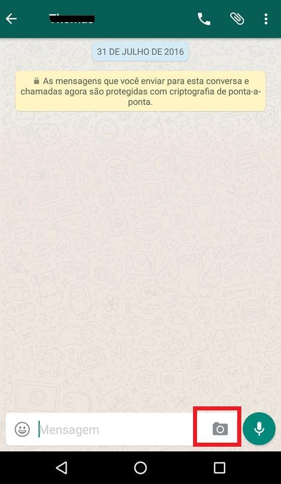 adicionar emojis nas fotos do whatsapp inicio