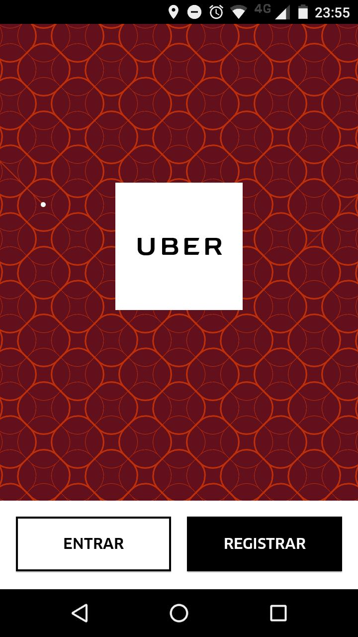 como usar o Uber inicio