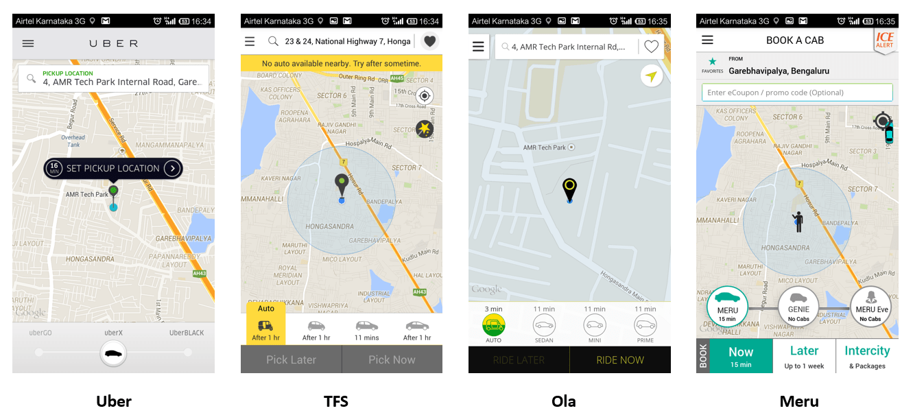 como usar o Uber principal