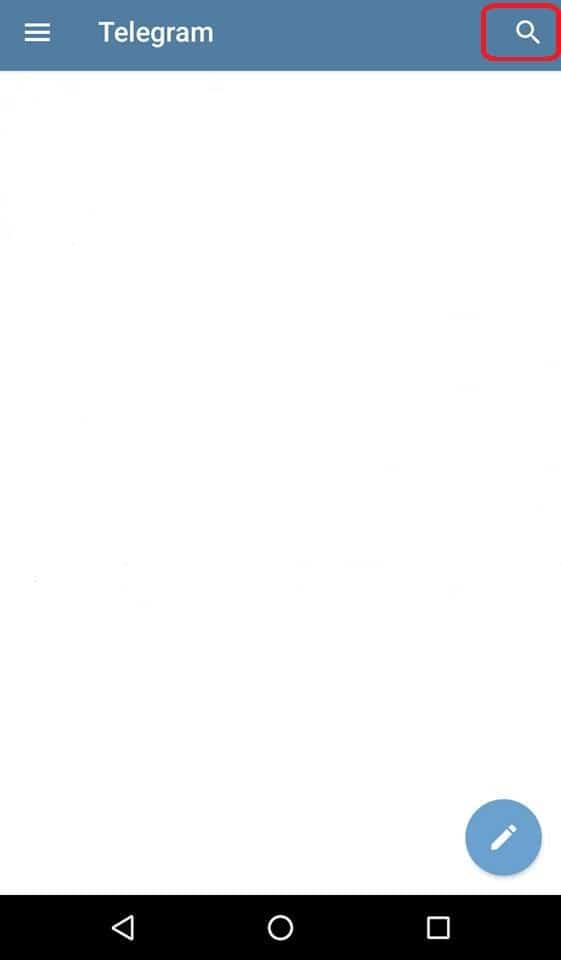 Telegram's search function