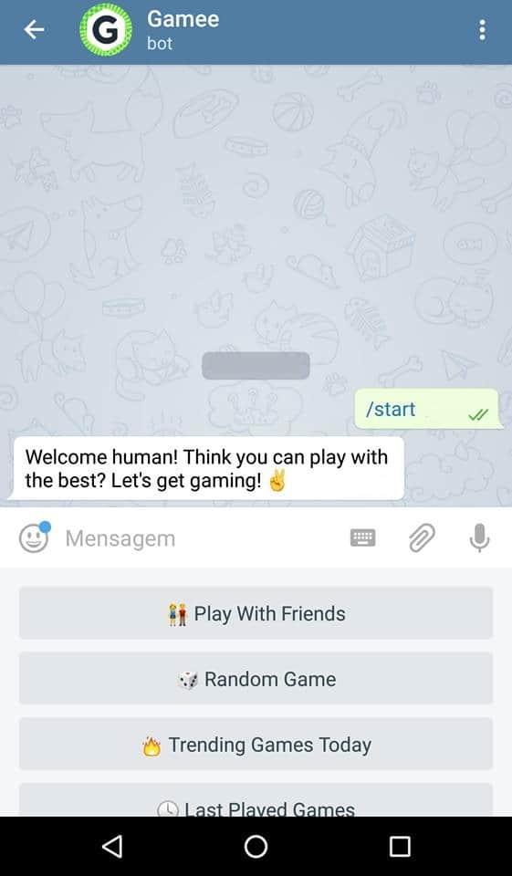 como jogar no telegram pontos games