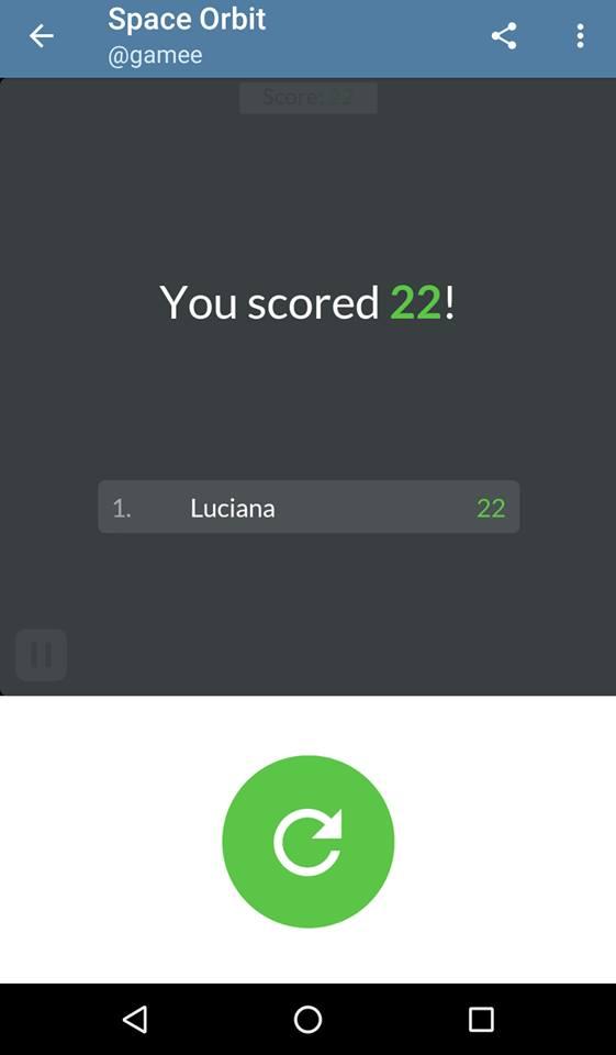 The score screen