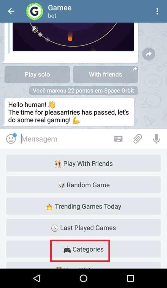 como jogar no telegram